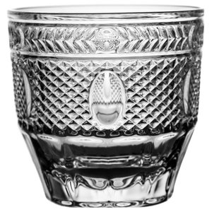 Decorative Lead Crystal Whisky Glasses, Set of 6
