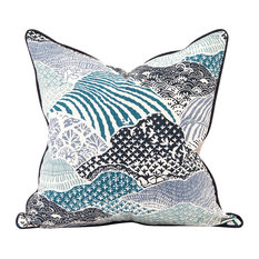 "Howard Elliott Madcap Cottage Windsor Park Indigo 20"" x 20"" Pillow, Down Insert"