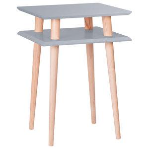 UFO Square Scandinavian Side Table, Dark Grey