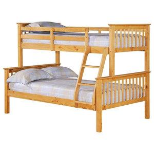 Porto Single Over Small Double Pine Bunk Bed
