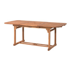 Acacia Wood Patio Butterfly Table, Brown