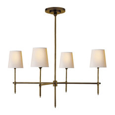Thomas O'Brien Bryant 4-Light Chandelier, Hand-Rubbed Antique Brass