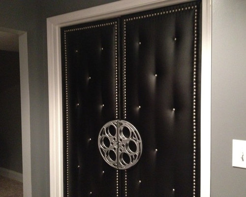 Home Theater Upholstered Doors And Walls   Window Treatments