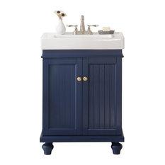 """Legion Furniture Dawson Single Sink Vanity, Blue, 24"""""""