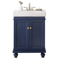 Legion Furniture Dawson Single Sink Vanity, Blue, 24""