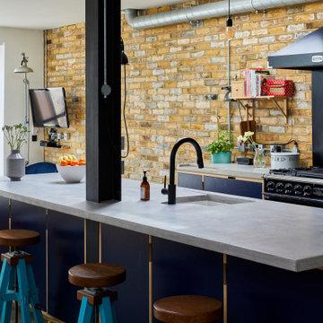 Microcement worktop & fireplace hearths, Beckenham BR2