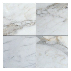 """Polished Tile, Calacatta Gold, 72 Pieces, 18""""x18"""""""