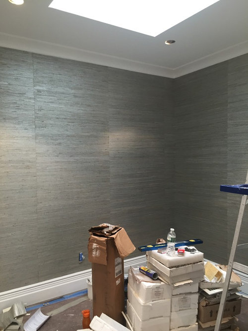 Do The Seems On This Grasscloth Wallpaper By Pacific
