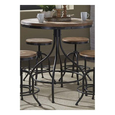 Liberty Furniture Industries, Inc.   Liberty Furniture Vintage Metal Pub  Table, Weathered Gray