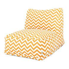 Outdoor Yellow Chevron Bean Bag Chair Lounger