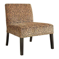 CO Fine Furniture - Leopard Accent Chair With Wood Legs - Armchairs And  Accent Chairs