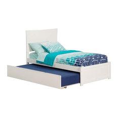Atlantic Furniture Metro Urban Twin Trundle Platform Bed, White