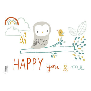 "Lilipinso ""Woodland Owl"" A3 Wall Stickers, 29.7x42 cm"