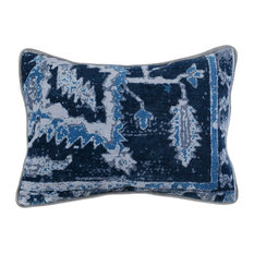 "Gershwin Printed 14""x20"" Throw Pillow, Blue by Kosas Home"