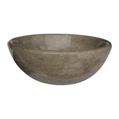 Classic Natural Stone Vessel Sink, Sea Grass Marble