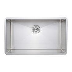 Wells Sinkware Handcrafted 30-inch 16-gauge Undermount Single Kitchen Sink