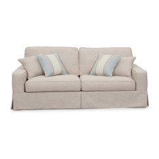 Delicieux Sunset Trading American Slipcovered Sofa, Linen