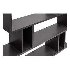 Goodwin 5-Level Dark Brown Modern Bookshelf