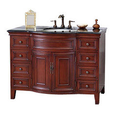 48 Inch Single Sink Vanity-Wood-Light Walnut