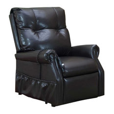 Med Lift Dawson Two-Way Reclining Lift Chair, Dark Brown Vinyl by Medlift