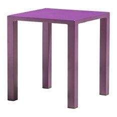 """GDF Studio Leeward Outdoor Aluminum 16"""" Side Table, Purple, Single"""