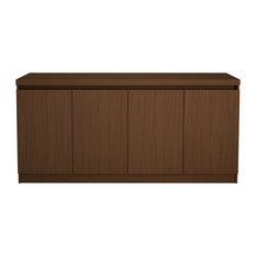 Manhattan Comfort Viennese Buffet and Sideboard Table, Nut Brown