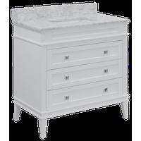 "Eleanor 30"" Bathroom Vanity, White, 30"", Carrara Marble Top"