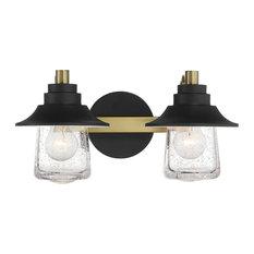 Minka-Lavery 4892-685 2 Light Bath Westfield Manor Sand Coal W/ Soft Brass