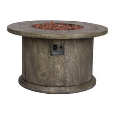 """Merida 40"""" Round Outdoor Fire Pit Table"""