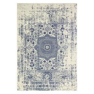 "Bashian Fanny Ivory/Blue Area Rug, 7'6""x9'6"""