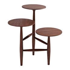 Carl Tripod And Pedestal Side Table Walnut Small