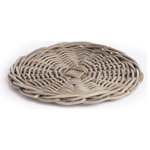 "Napa Home & Garden - Normandy Gray Charger 14"" Set Of 6 - Chargers in our popular dove gray can add a chic, casual look to the table. Made by some of the world's best weavers, our Normandy rattan is five-star quality."