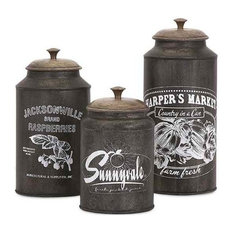 Darby Metal Canisters, 3-Piece Set