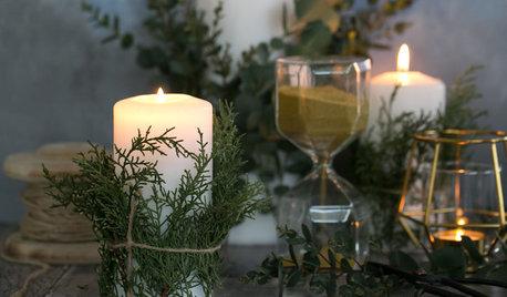 DIY : Des bougies habillées de verdure pour les fêtes