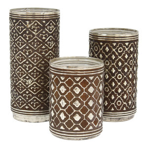 Relic Glass Candle Holders, 3-Piece Set
