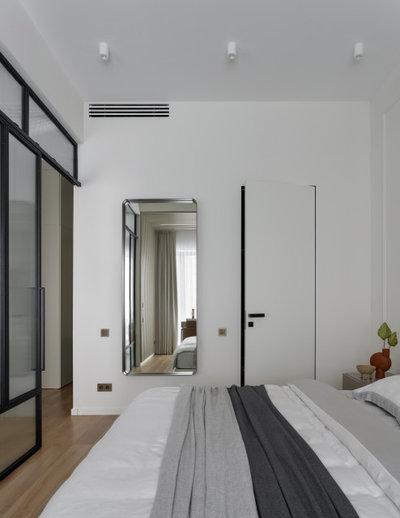 Современный Спальня by Huge Studio