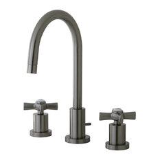 Kingston Brass Millennium Mini-Widespread Bathroom Faucet, Brushed Nickel
