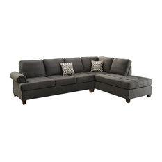 Infini - Sectional Sofa with Reversible Chaise Charcoal Gray Black - Sectional Sofas  sc 1 st  Houzz : transitional sectional sofa - Sectionals, Sofas & Couches
