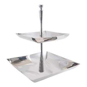 Stainless Steel 2-Tier Cake Stand