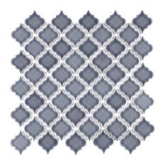 "SomerTile 12.38""x12.5"" Hudson Tangier Mosaic Floor/Wall Tile, Set of 10"