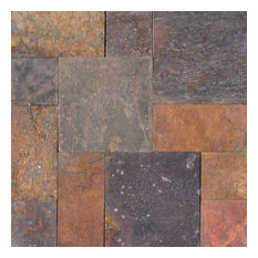 Multi Classic Slate Versailles Pattern Tiles, 8 Sq. ft.