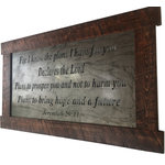 JNMRustics - Jeremiah 29:11 Large Metal Wall Art - Beautifully detailed metal scripture sign. Metal has been carefully cleaned and detailed then finish with a protective clear coating.