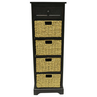 Montgomery Storage Tower with Four Woven Baskets