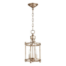 Entry chandeliers houzz quorum quorum rossington 2 light entry chandelier aged silver leaf chandeliers aloadofball Gallery
