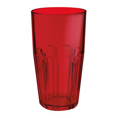 Bahama Tumblers 22 oz. Drinking Glass Set of 4, Red