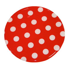 """Andreas Dots Trivet, Red and White, 10"""" Round"""