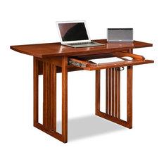 leick home mission oak drop leaf computer desk desks and hutches