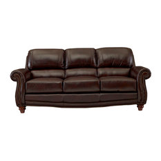 Superior Leather Italia USA   Leather Italia USA Presidential James Sofa S9922,  Tobacco   Sofas