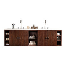 "Sonoma 72"" Double Vanity Coffee Oak, Base Cabinet Only"