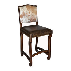 Classic Cowhide Counter Stool Set Of 6